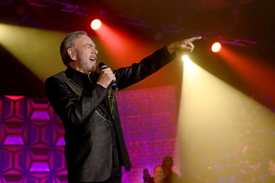 NEW YORK, NY - JUNE 14:  Honoree Neil Diamond performs onstage during the Songwriters Hall of Fame 49th Annual Induction and Awards Dinner at New York Marriott Marquis Hotel on June 14, 2018 in New York City.  (Photo by Larry Busacca/Getty Images for Songwriters Hall Of Fame) *** Local Caption *** Neil Diamond