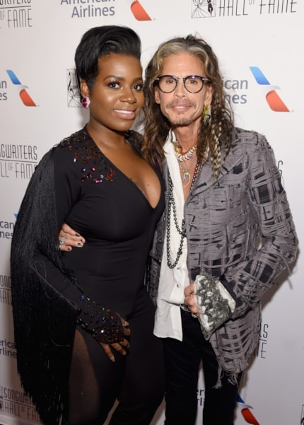 NEW YORK, NY - JUNE 14: Fantasia and Steven Tyler pose backstage during the Songwriters Hall of Fame 49th Annual Induction and Awards Dinner at New York Marriott Marquis Hotel on June 14, 2018 in New York City.  (Photo by Larry Busacca/Getty Images for Songwriters Hall Of Fame) *** Local Caption *** Fantasia;Steven Tyler