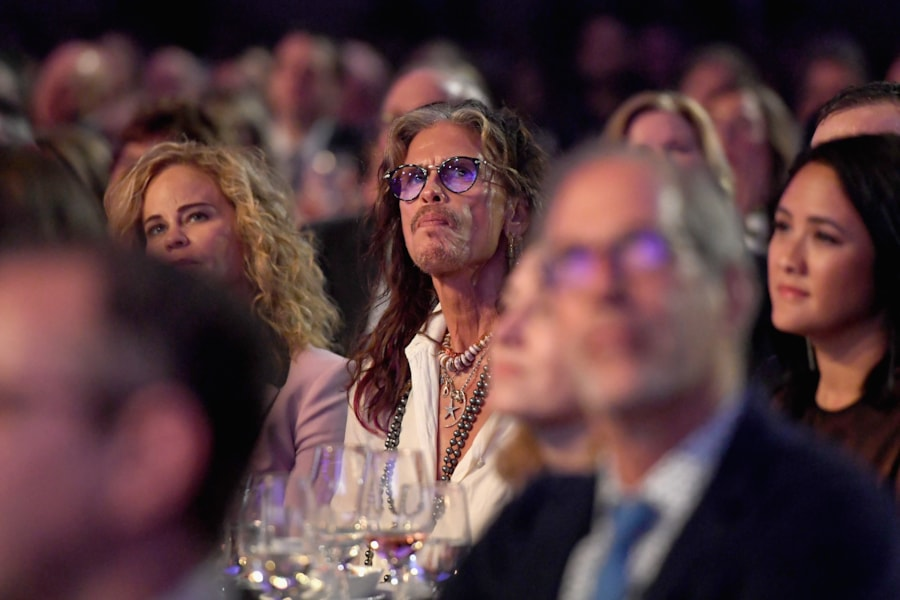 NEW YORK, NY - JUNE 14:  Steven Tyler attends the Songwriters Hall of Fame 49th Annual Induction and Awards Dinner at New York Marriott Marquis Hotel on June 14, 2018 in New York City.  (Photo by Larry Busacca/Getty Images for Songwriters Hall Of Fame) *** Local Caption *** Steven Tyler