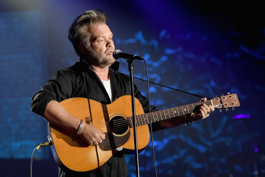 NEW YORK, NY - JUNE 14:  Songwriters Hall of Fame Inductee John Mellencamp performs onstage during the Songwriters Hall of Fame 49th Annual Induction and Awards Dinner at New York Marriott Marquis Hotel on June 14, 2018 in New York City.  (Photo by Larry Busacca/Getty Images for Songwriters Hall Of Fame) *** Local Caption *** John Mellencamp