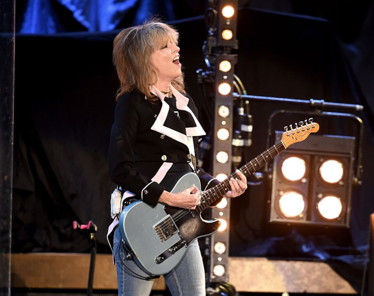Two of Akron, Ohio's biggest success stories collided in 2016 when Auerbach produced The Pretenders on their studio album 'Alone.'